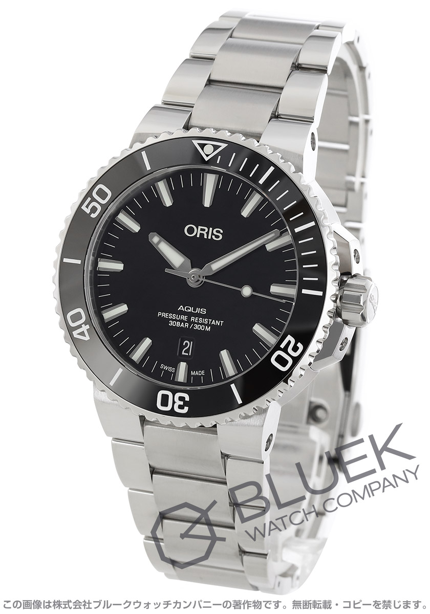 オリス アクイス デイト 300m防水 腕時計 メンズ ORIS 733 7730 4134M