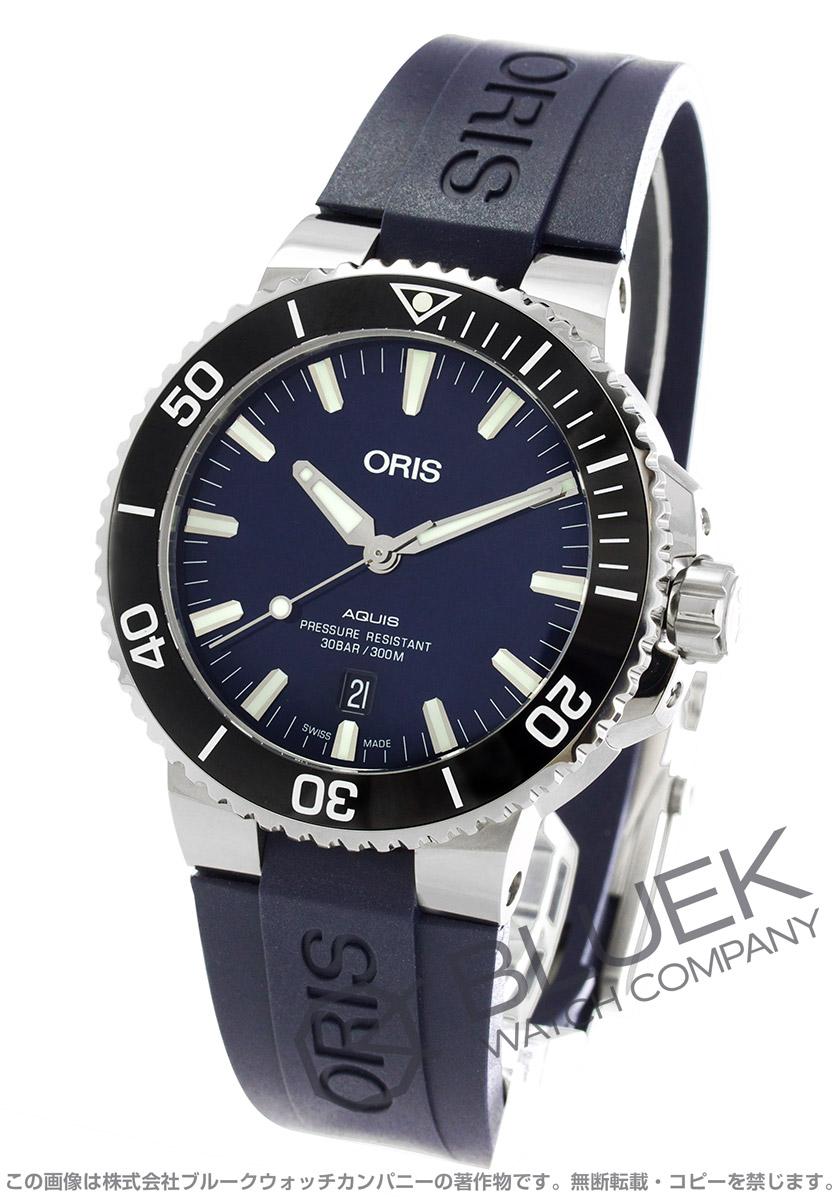 オリス アクイス デイト 300m防水 腕時計 メンズ ORIS 733 7730 4135RBL