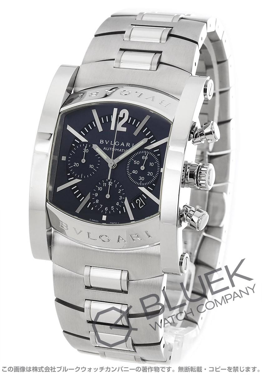 7d13c3914a ブルガリ アショーマ クロノグラフ 腕時計 メンズ BVLGARI AA48C14SSDCH