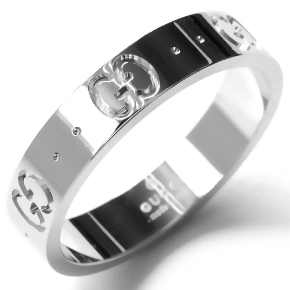 e4a1389d34c7 グッチ リング【指輪】 アクセサリー メンズ レディース GGアイコン シルバー ホワイトゴールド 073230 09850 9000