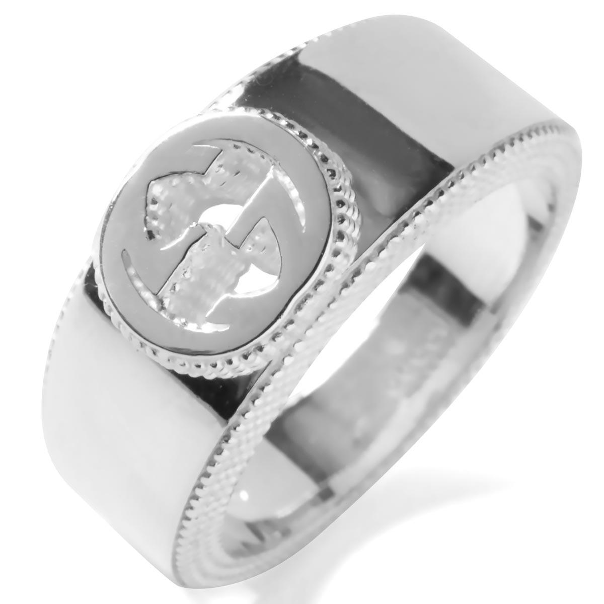 fd76ef2587d2 グッチ リング【指輪】 アクセサリー メンズ レディース インターロッキングG シルバー 479228 J8400 8106 GUCCI
