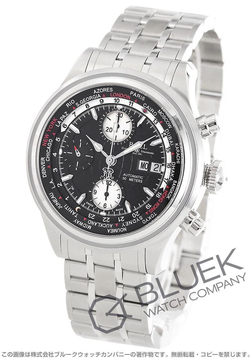 ボールウォッチ トレインマスター ワールドタイム クロノグラフ 腕時計 メンズ BALL WATCH CM2052D-SJ-BK