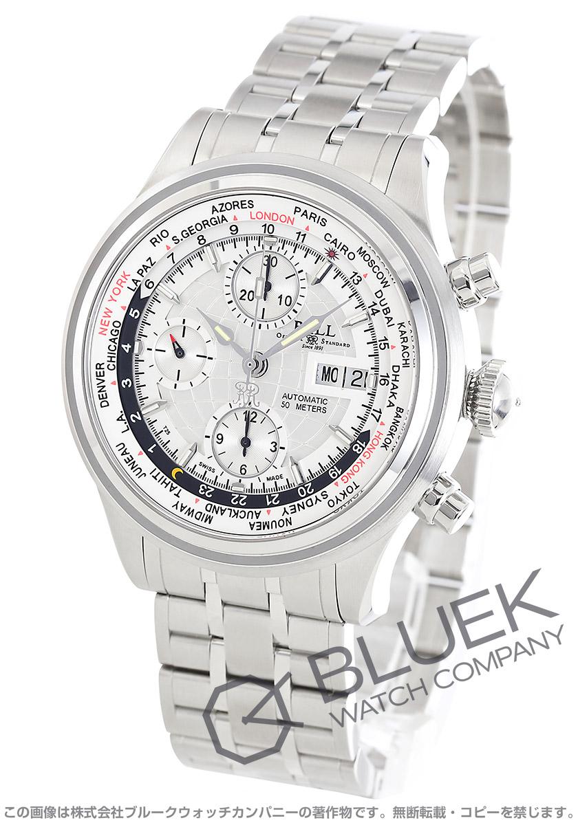 ボールウォッチ トレインマスター ワールドタイム クロノグラフ 腕時計 メンズ BALL WATCH CM2052D-SJ-SL