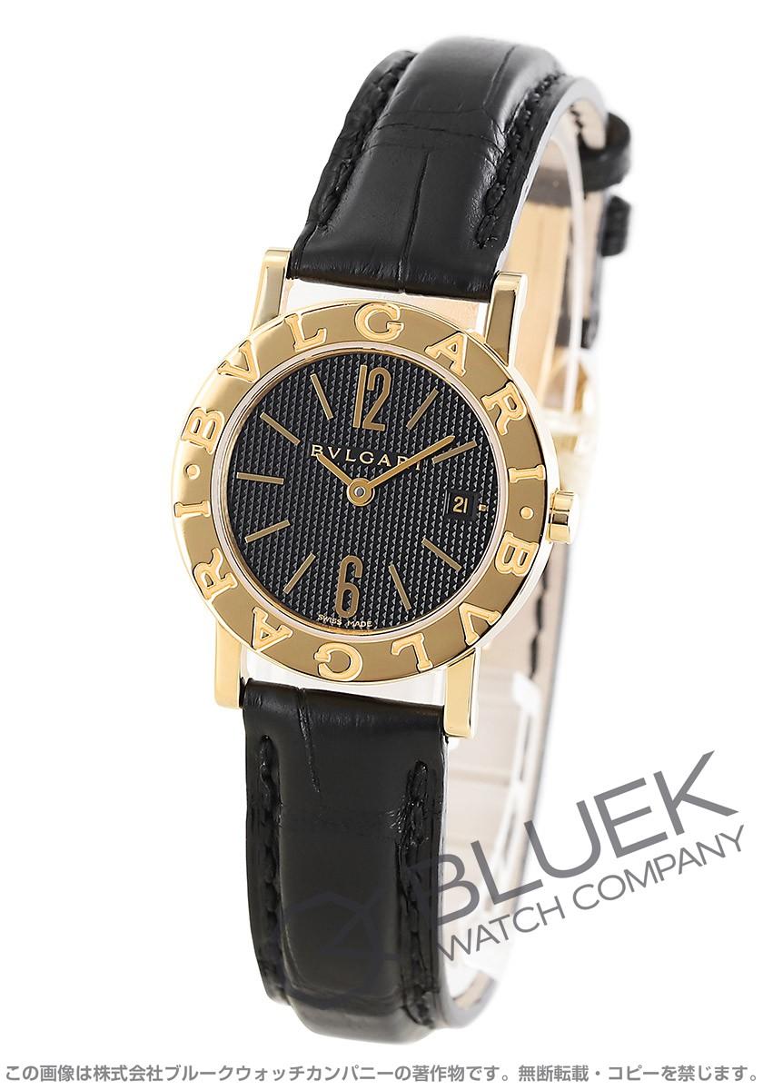 3120a3c8ce ブルガリ ブルガリブルガリ YG金無垢 アリゲーターレザー 腕時計 レディース BVLGARI BB26BGLD