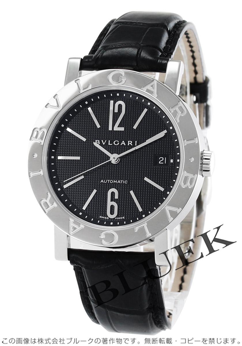 9dcb38e65537 ブルガリ ブルガリブルガリ アリゲーターレザー 腕時計 メンズ BVLGARI BB38BSLD