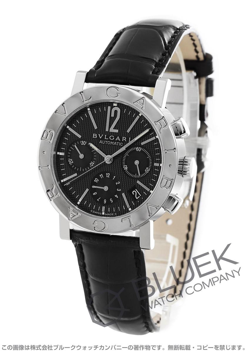 ブルガリ ブルガリブルガリ クロノグラフ アリゲーターレザー 腕時計 メンズ BVLGARI BB38BSLDCH