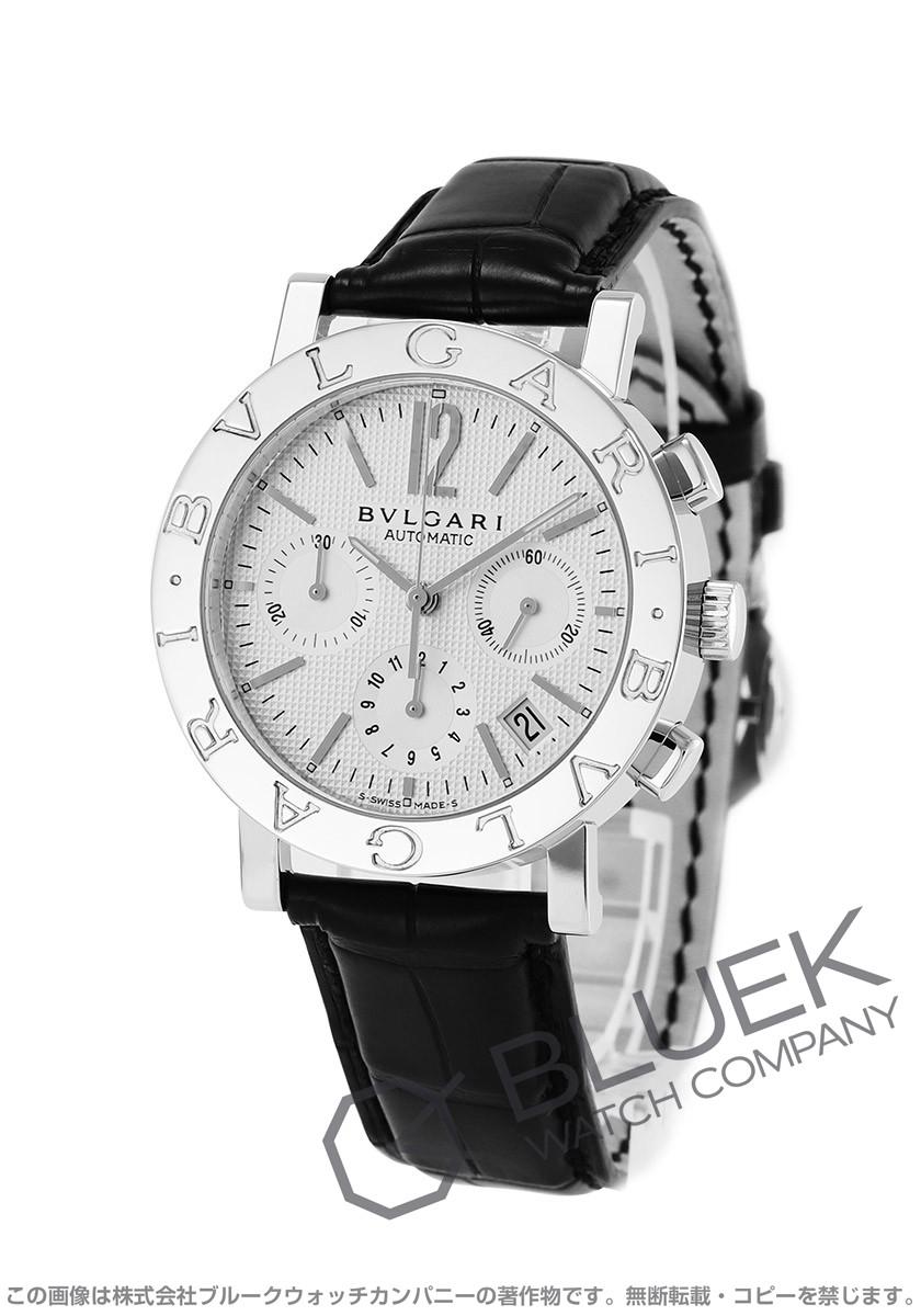 ブルガリ ブルガリブルガリ クロノグラフ アリゲーターレザー 腕時計 メンズ BVLGARI BB38WSLDCH
