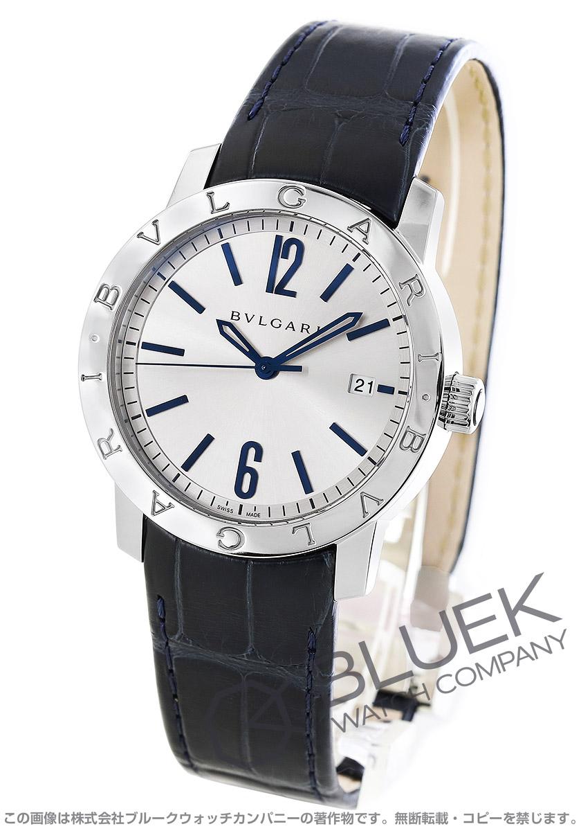 ブルガリ ブルガリブルガリ ソロテンポ アリゲーターレザー 腕時計 メンズ BVLGARI BB39C6SLD