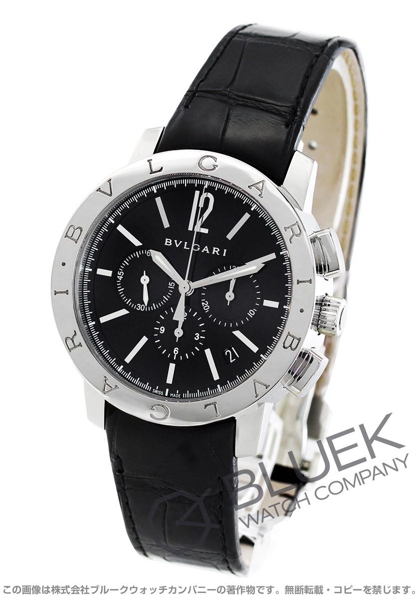 ブルガリ ブルガリブルガリ クロノグラフ アリゲーターレザー 腕時計 メンズ BVLGARI BB41BSLDCH