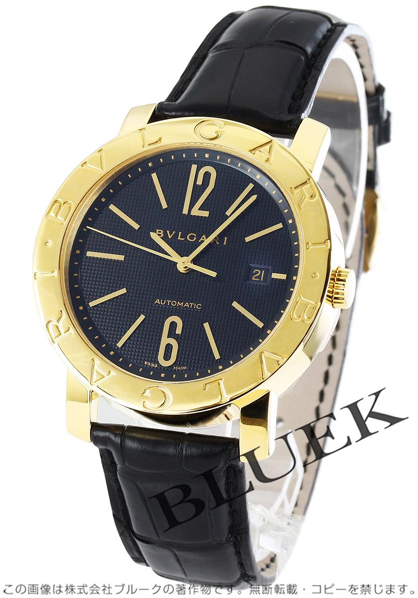 5407b8832b98 ブルガリ ブルガリブルガリ YG金無垢 アリゲーターレザー 腕時計 メンズ BVLGARI BB42BGLD AUTO