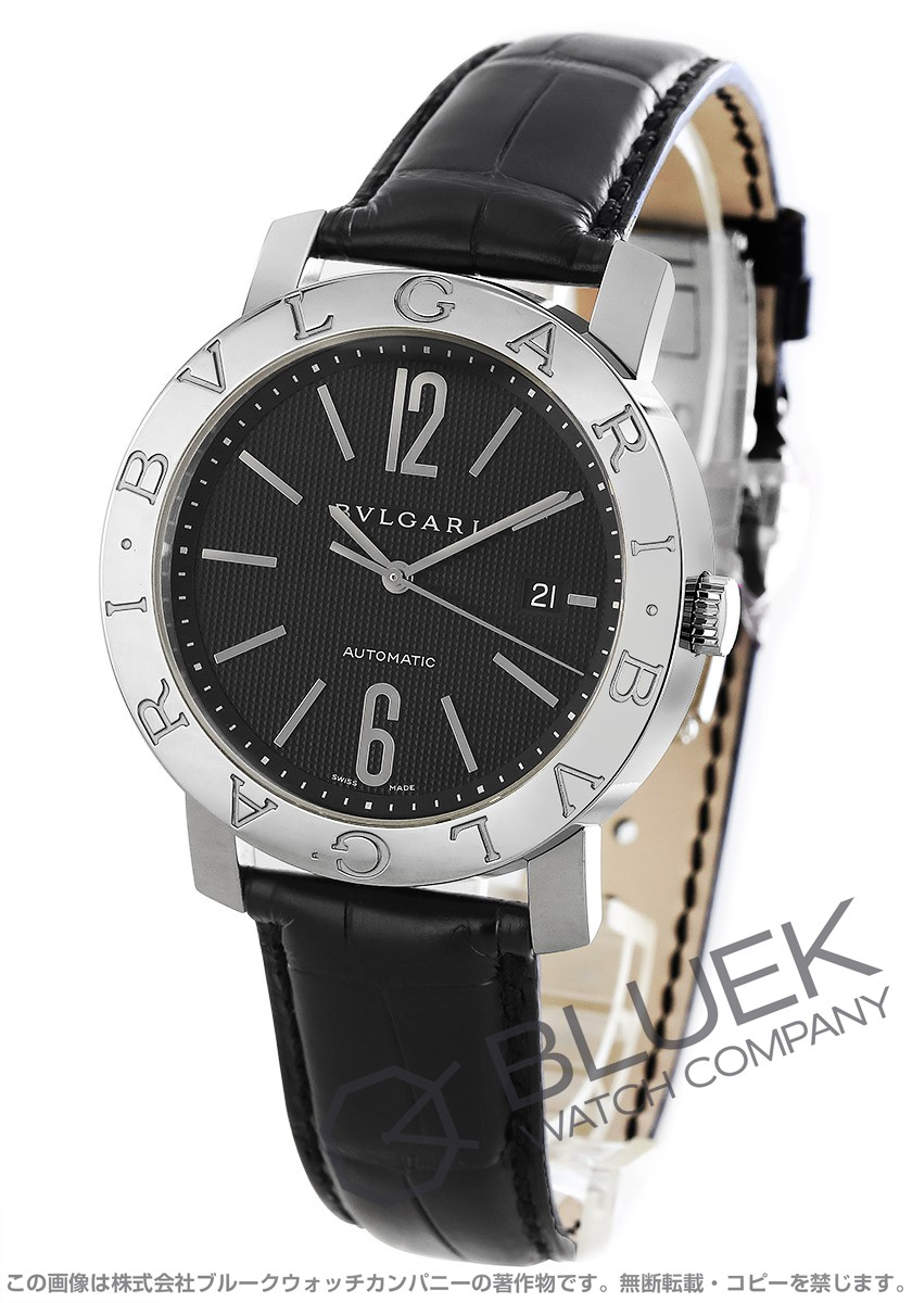 ブルガリ ブルガリブルガリ アリゲーターレザー 腕時計 メンズ BVLGARI BB42BSLD AUTO