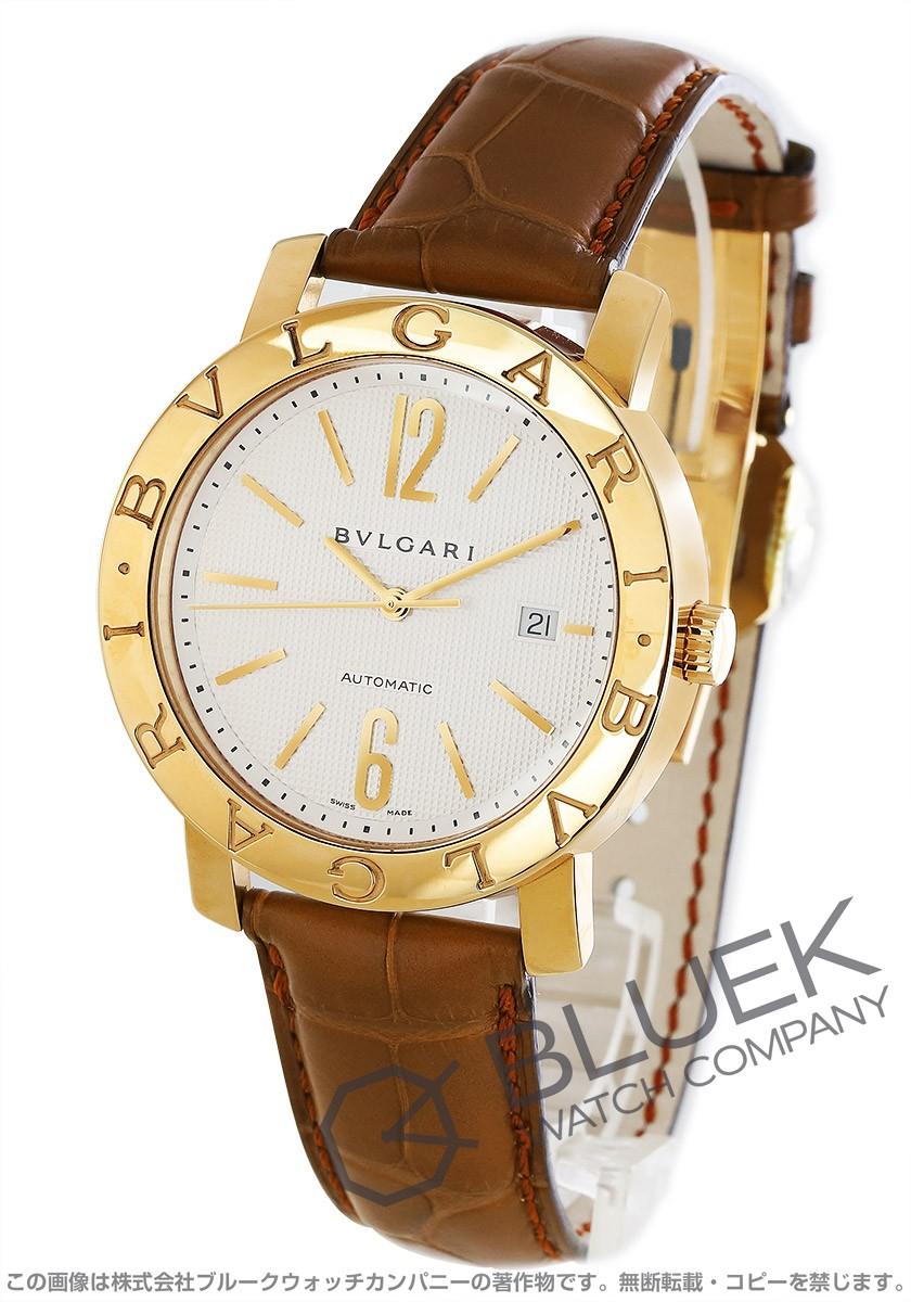 ブルガリ ブルガリブルガリ YG金無垢 アリゲーターレザー 腕時計 メンズ BVLGARI BB42WGLD AUTO