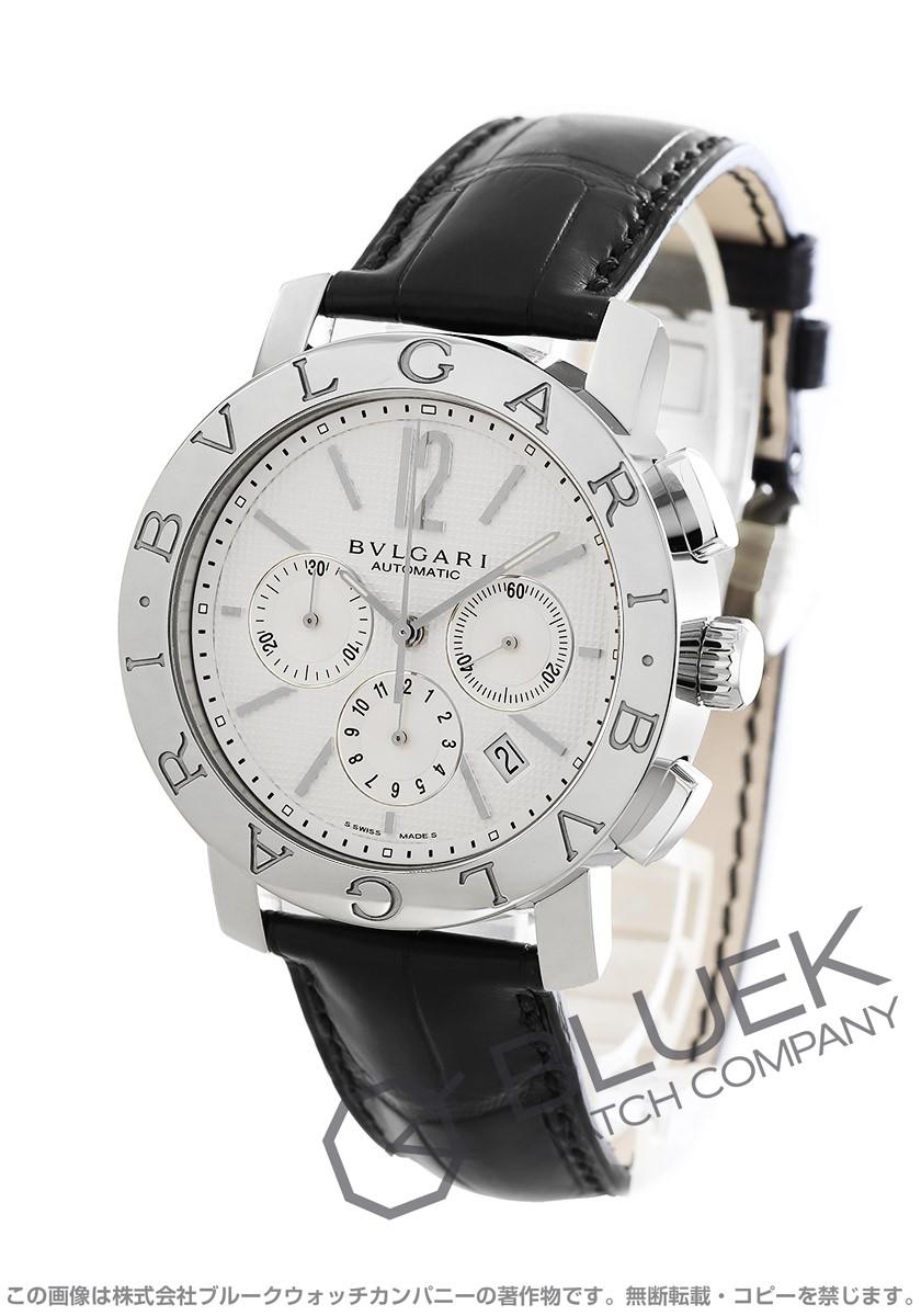 ブルガリ ブルガリブルガリ クロノグラフ アリゲーターレザー 腕時計 メンズ BVLGARI BB42WSLDCH