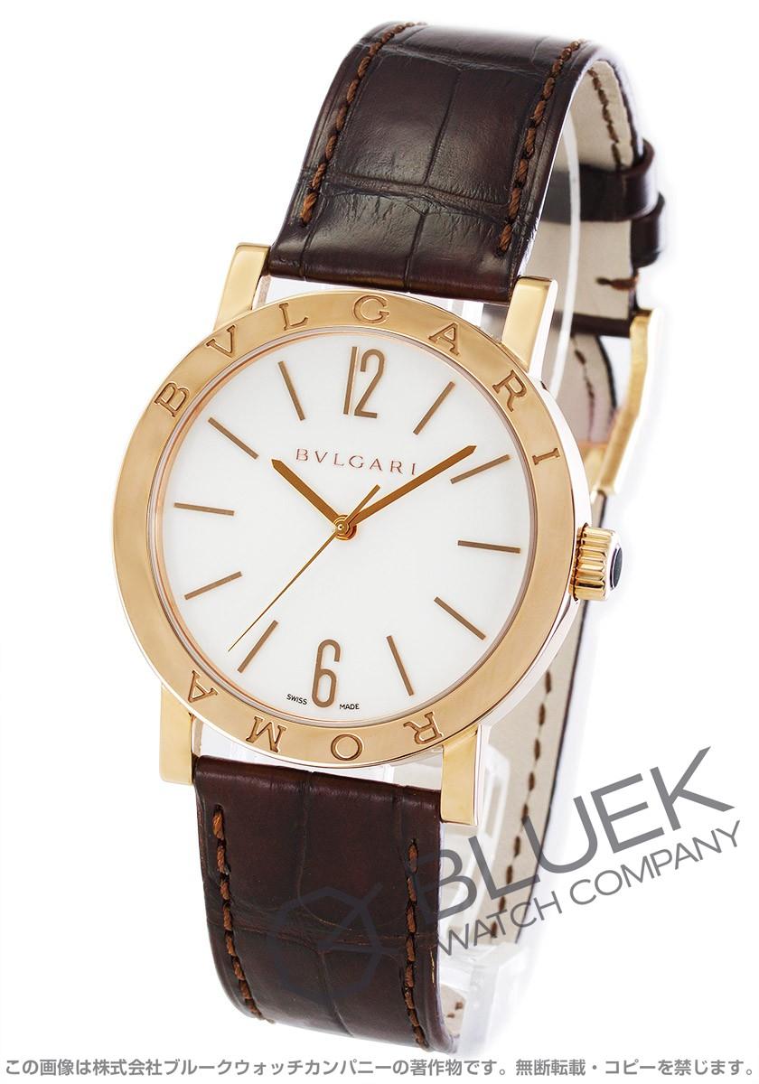 ブルガリ BVLGARI 腕時計 ブルガリブルガリ ローマ 世界130本限定 PG金無垢 アリゲーターレザー メンズ BBP39WGL/ROMA