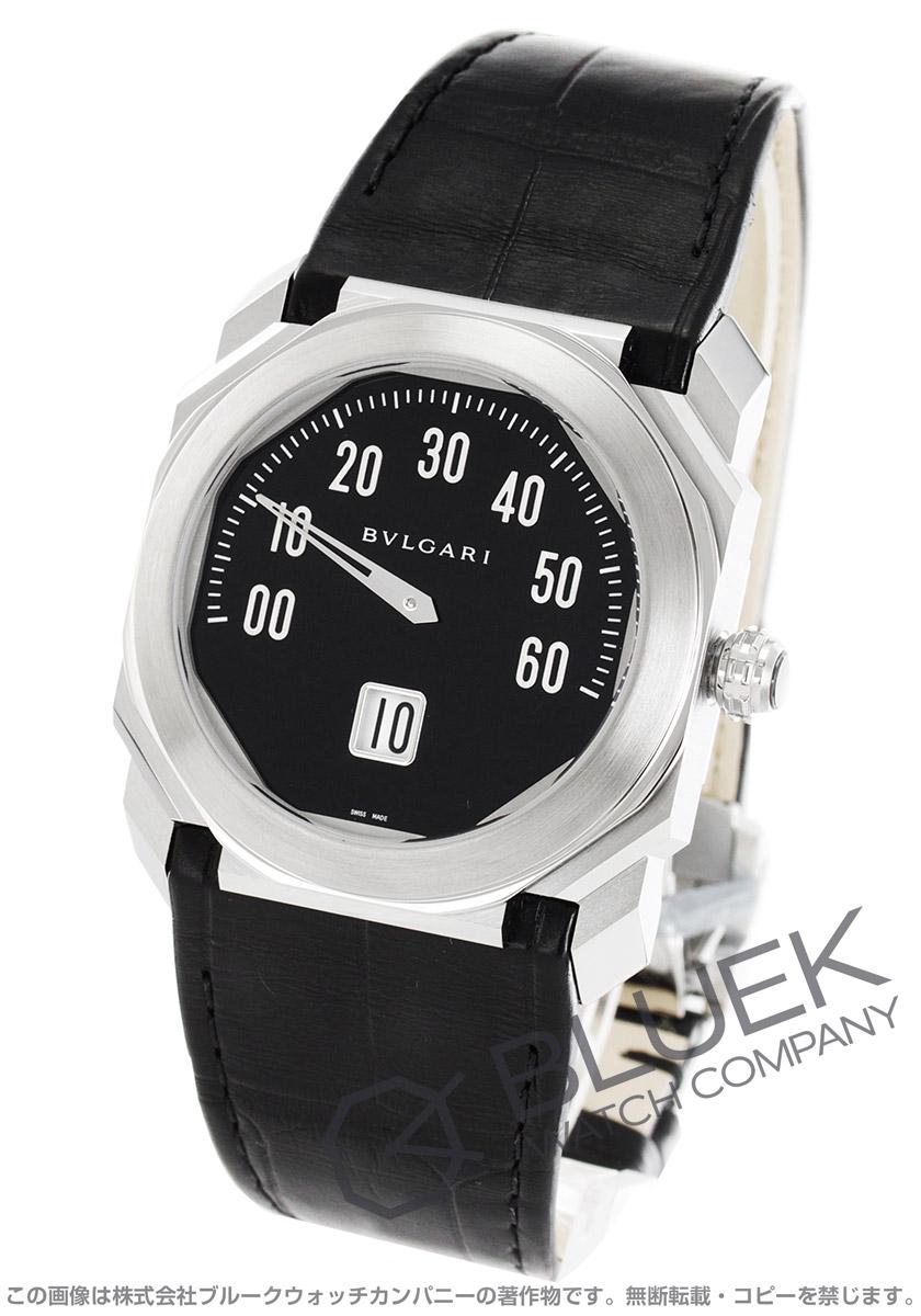 ブルガリ BVLGARI 腕時計 オクト レトログラード アリゲーターレザー メンズ BGO38BSLR