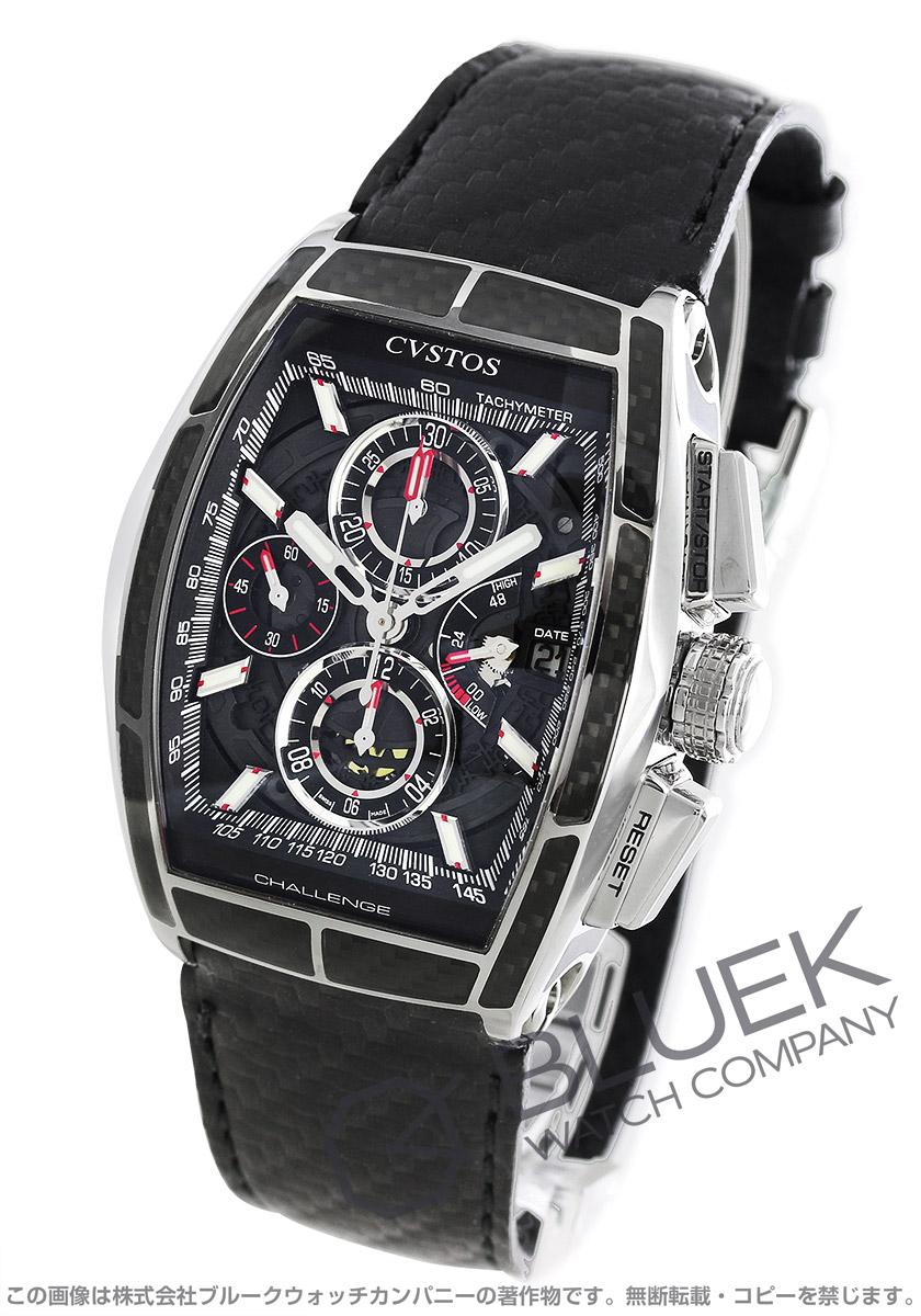 クストス チャレンジ クロノII カーボン クロノグラフ パワーリザーブ 腕時計 メンズ Cvstos CVT-CHR2-CARBON ST