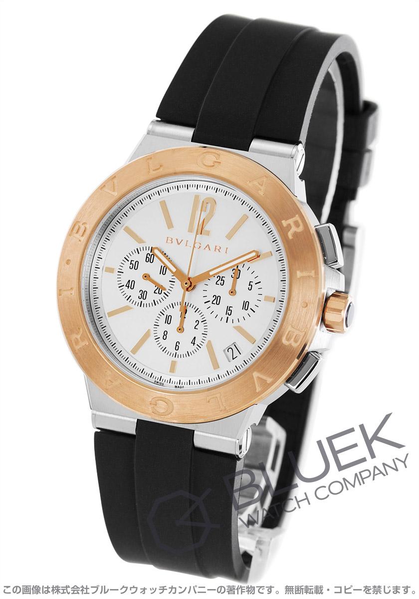 ブルガリ ディアゴノ ヴェロチッシモ クロノグラフ 替えベルト付き 腕時計 メンズ BVLGARI DG41WSPGVDCH-SET-BRW