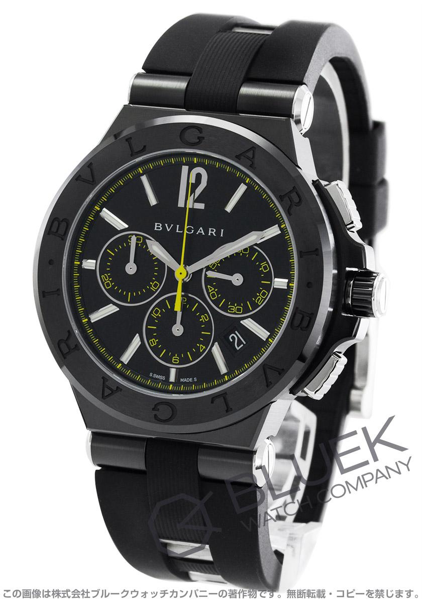 low priced a3ebe 3816c ブルガリ ディアゴノ ウルトラネロ クロノグラフ 腕時計 メンズ ...