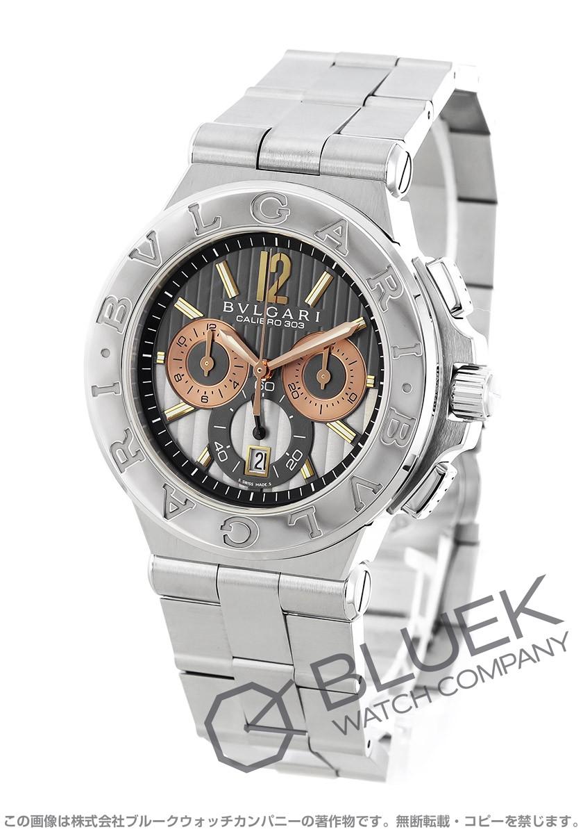 8c4a66e66755 ブルガリ ディアゴノ カリブロ303 クロノグラフ 腕時計 メンズ BVLGARI DG42C14SWGSDCH