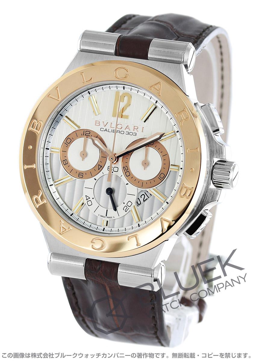 547f0d5e2abb ブルガリ ディアゴノ カリブロ303 クロノグラフ 腕時計 メンズ BVLGARI DG42C6SPGLDCH