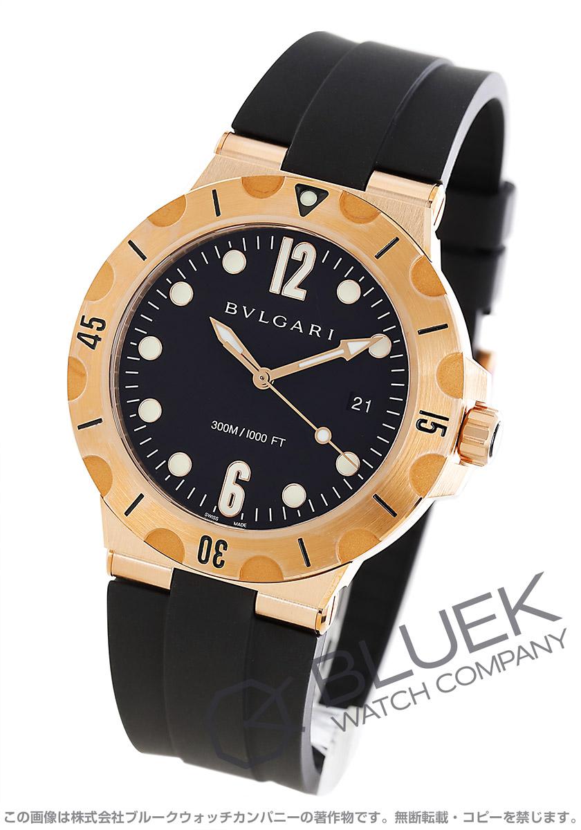 ブルガリ ディアゴノ プロフェッショナル スクーバ 300m防水 PG金無垢 腕時計 メンズ BVLGARI DPP41BGVSD
