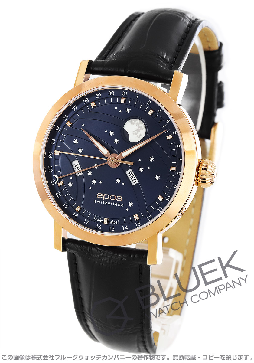 エポス エモーション ナイトスカイ ビッグムーン ムーンフェイズ 腕時計 メンズ EPOS 3440RGBL