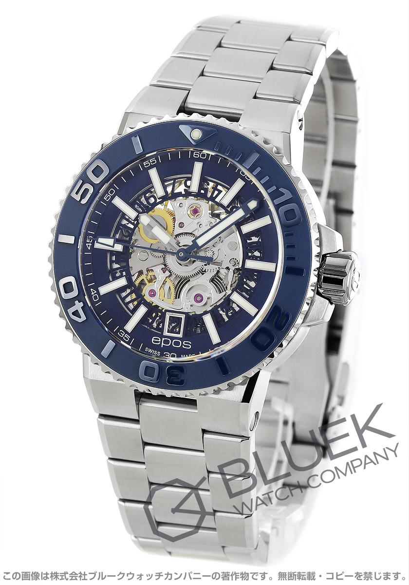 エポス スポーティブ スケルトン 500m防水 腕時計 メンズ EPOS 3441SKBLM