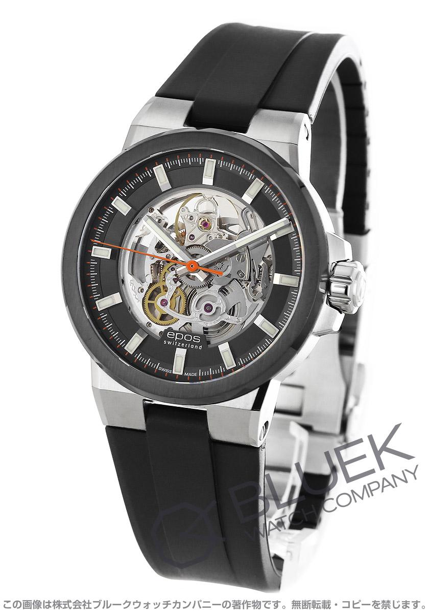 エポス スポーティブ スケルトン 腕時計 メンズ EPOS 3442SKBSGYR