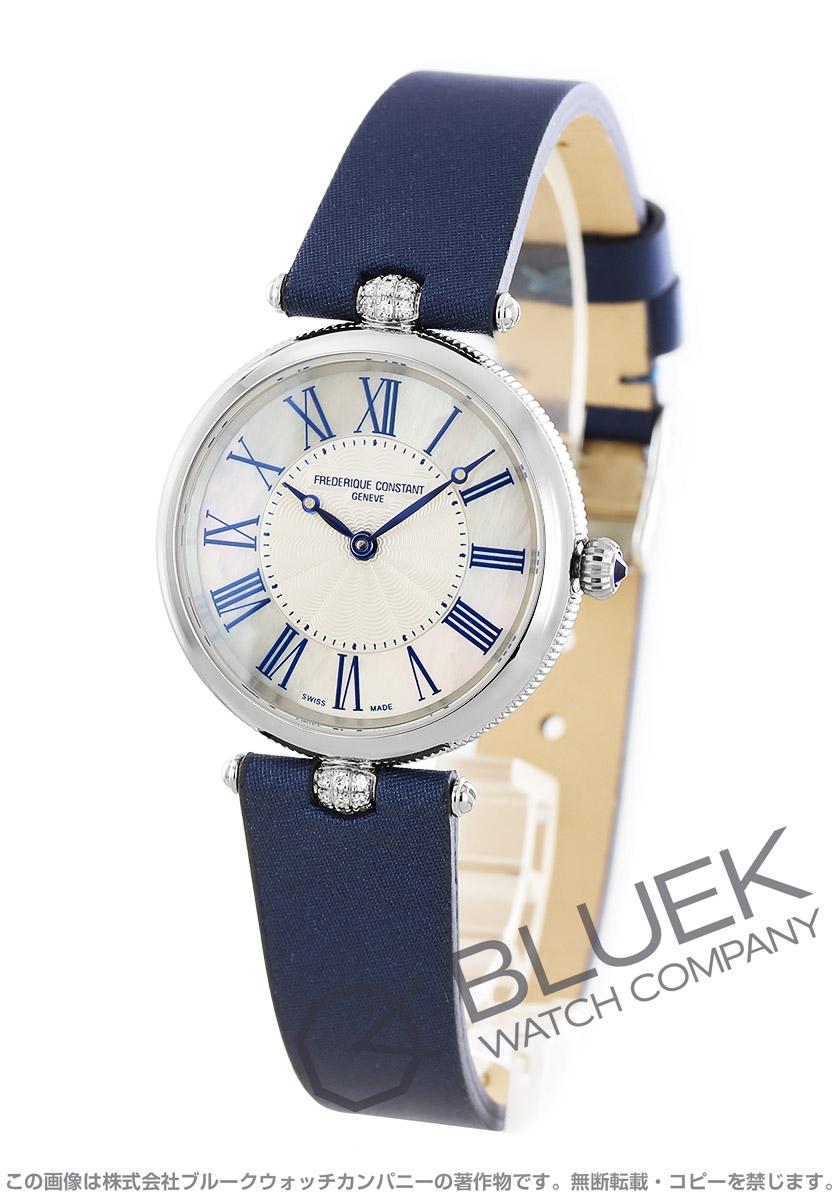 フレデリックコンスタント アールデコ ダイヤ サテンレザー 腕時計 レディース FREDERIQUE CONSTANT 200MPWN2AR2D6