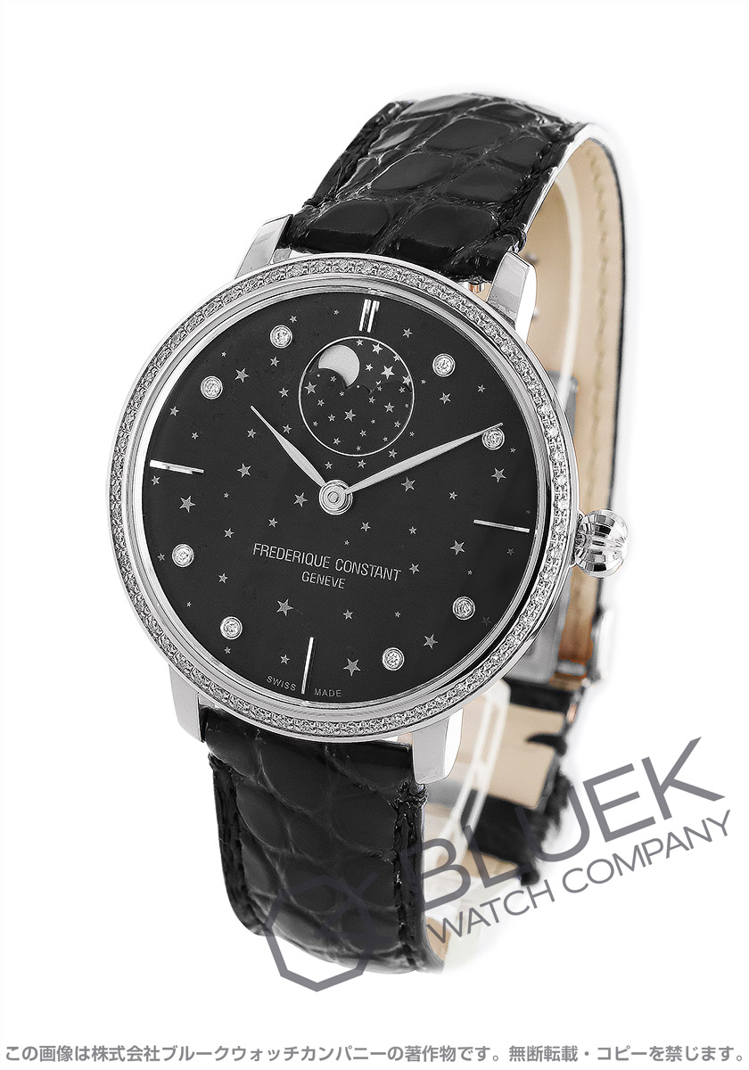 フレデリックコンスタント マニュファクチュール スリムライン ムーンフェイズ スターズ ダイヤ 腕時計 ユニセックス FREDERIQUE CONSTANT 701BSD3SD6