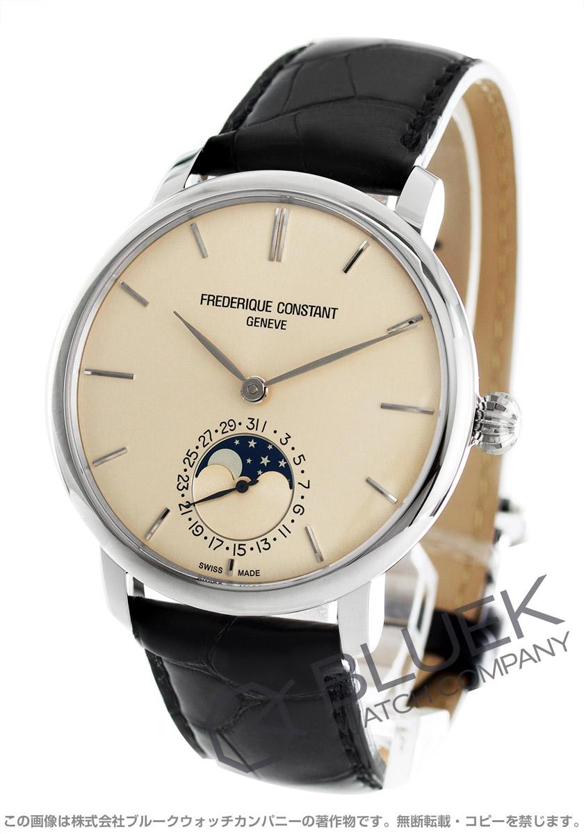フレデリックコンスタント マニュファクチュール スリムライン ムーンフェイズ アリゲーターレザー 腕時計 メンズ FREDERIQUE CONSTANT 705BG4S6