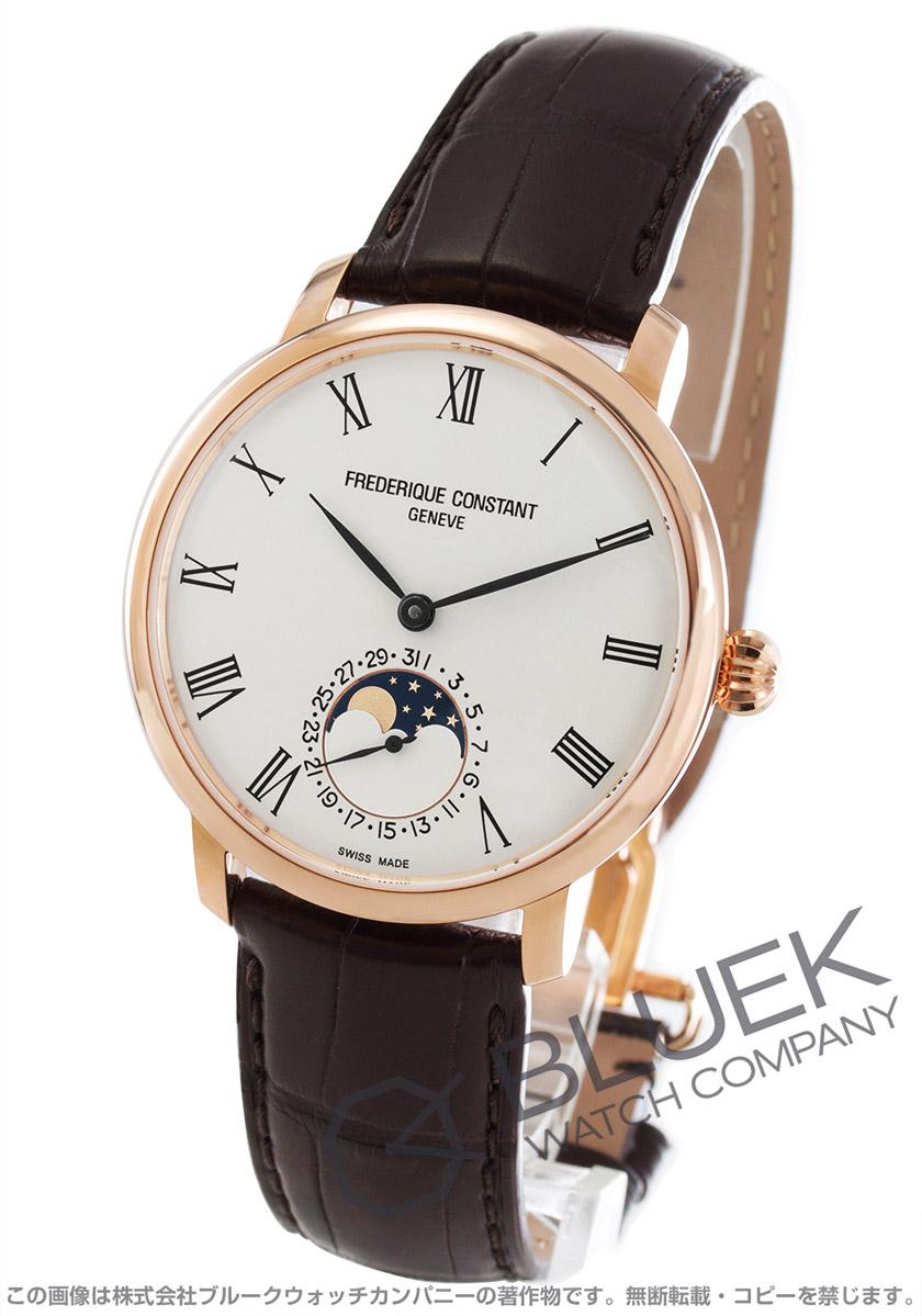 フレデリックコンスタント マニュファクチュール スリムライン ムーンフェイズ アリゲーターレザー 腕時計 メンズ FREDERIQUE CONSTANT 705WR4S4
