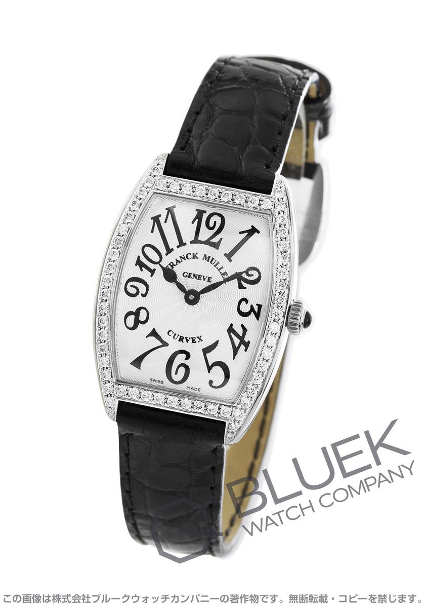 フランクミュラー トノーカーベックス ダイヤ クロコレザー 腕時計 レディース FRANCK MULLER 1752 QZ DP