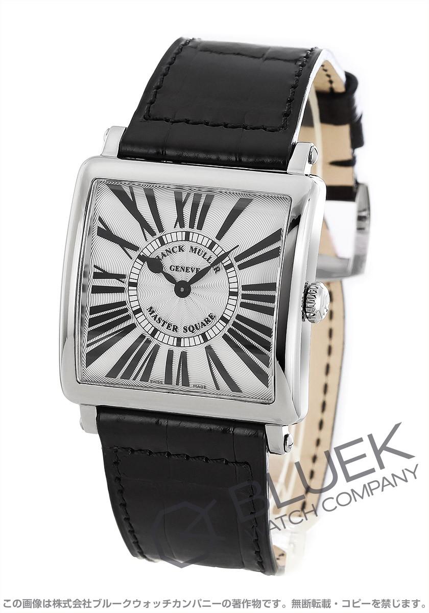 フランクミュラー マスタースクエア クロコレザー 腕時計 レディース FRANCK MULLER 6002 M QZ R[FM6002MQZSSSLENBK]