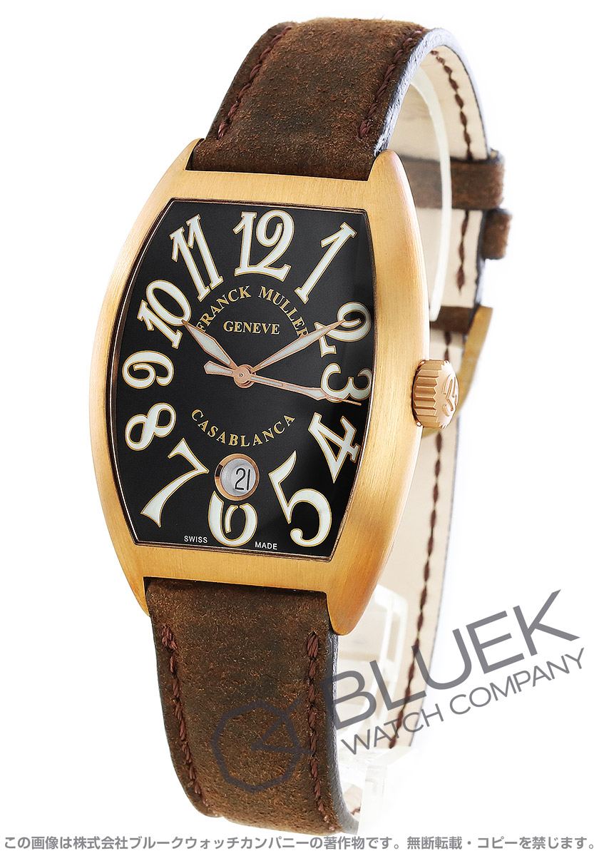 フランクミュラー トノーカーベックス カサブランカ 25周年 世界限定50本 腕時計 メンズ FRANCK MULLER 7880 C DT BR CASABLANCA LM[FM7880SCCABZBKLZBR]
