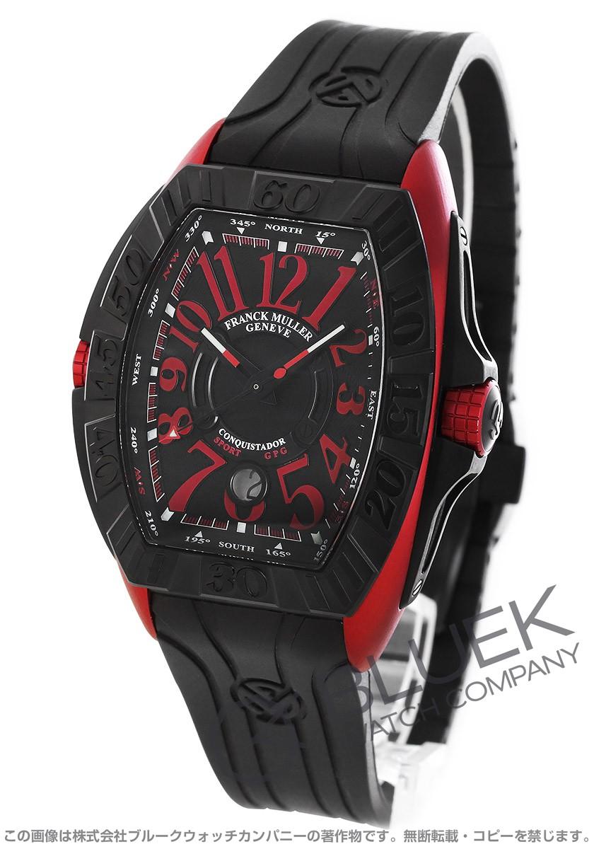 フランクミュラー コンキスタドール グランプリ 腕時計 メンズ FRANCK MULLER 8900 SC DT GPG TT NR ERG[FM8900SCTIRDBKRUBK]