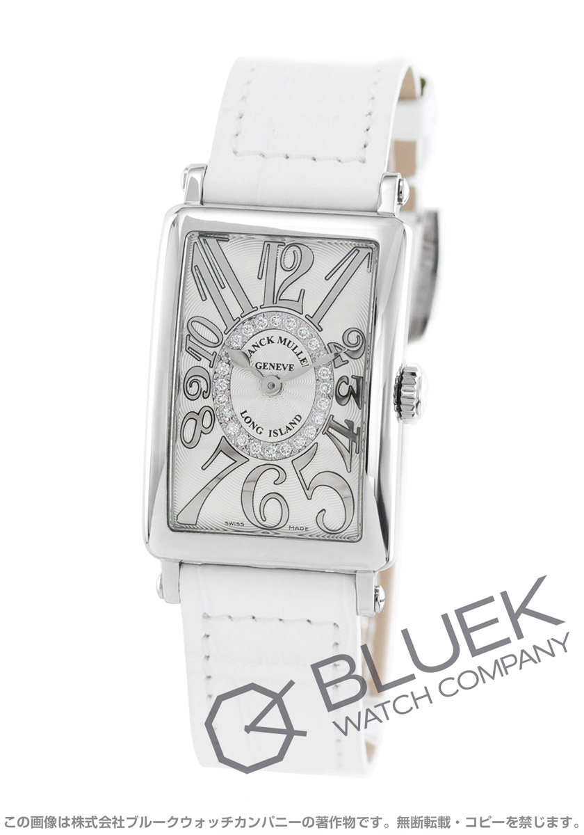 new style a4dfc 14252 フランクミュラー ロングアイランド レリーフ ダイヤ クロコレザー 腕時計 レディース FRANCK MULLER 902 QZ REL CD 1R