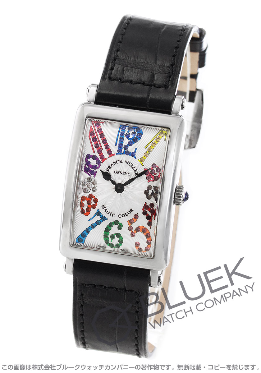フランクミュラー ロングアイランド マジックカラー クロコレザー 腕時計 レディース FRANCK MULLER 902 QZ MAG COL[FM902QZCOSSSLLZBK]