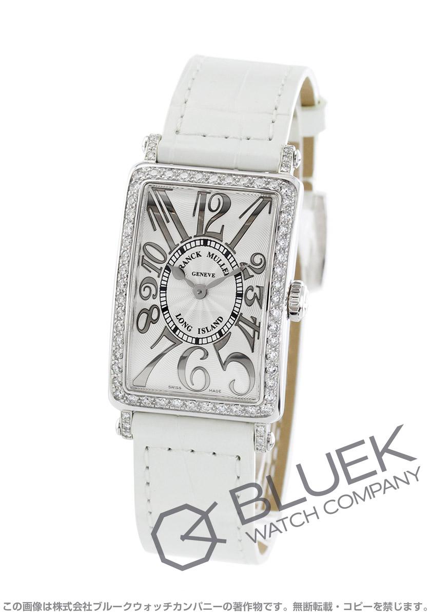 super popular e2cde 14c7e フランクミュラー ロングアイランド レリーフ ダイヤ クロコレザー 腕時計 レディース FRANCK MULLER 902 QZ REL D 1R