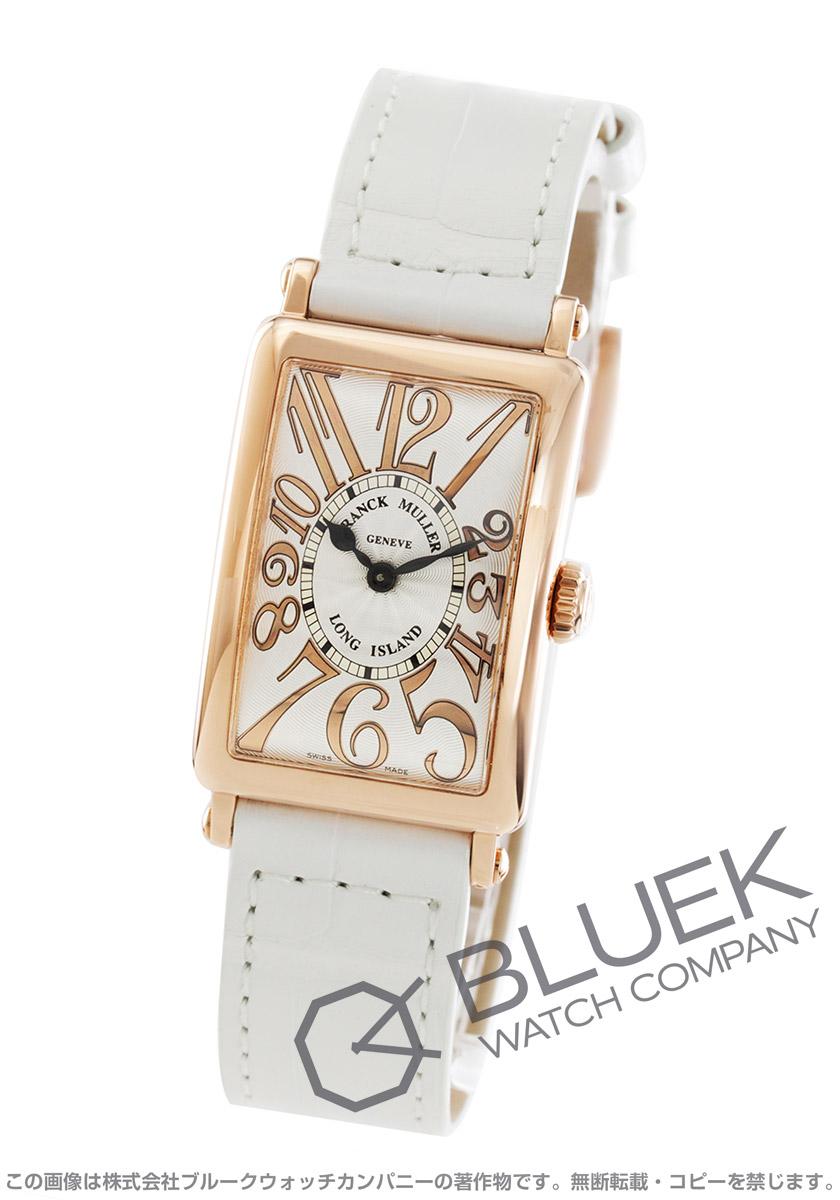 フランクミュラー ロングアイランド レリーフ PG金無垢 クロコレザー 腕時計 レディース FRANCK MULLER 902 QZ REL