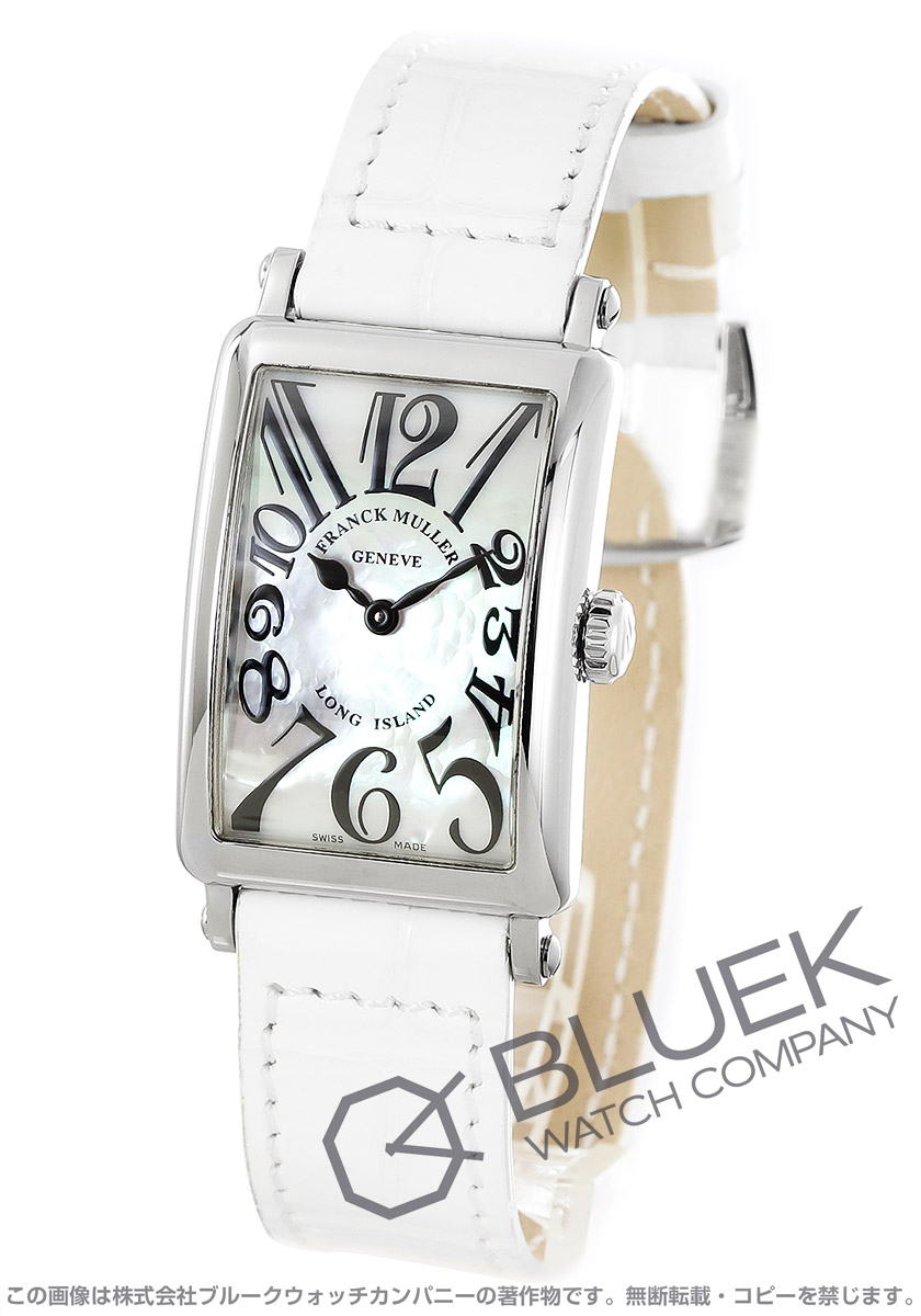 フランクミュラー ロングアイランド クロコレザー 腕時計 レディース FRANCK MULLER 902 QZ MOP