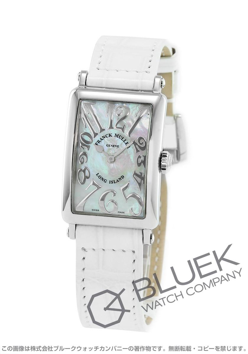 フランクミュラー FRANCK MULLER 腕時計 ロングアイランド レリーフ クロコレザー レディース 902 QZ REL MOP