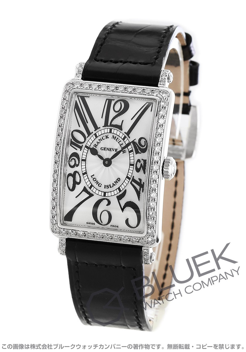 フランクミュラー ロングアイランド ダイヤ クロコレザー 腕時計 レディース FRANCK MULLER 952 QZ D 1R