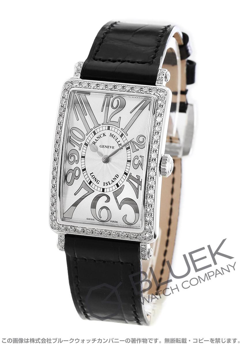 フランクミュラー ロングアイランド レリーフ ダイヤ クロコレザー 腕時計 レディース FRANCK MULLER 952 QZ REL D 1R