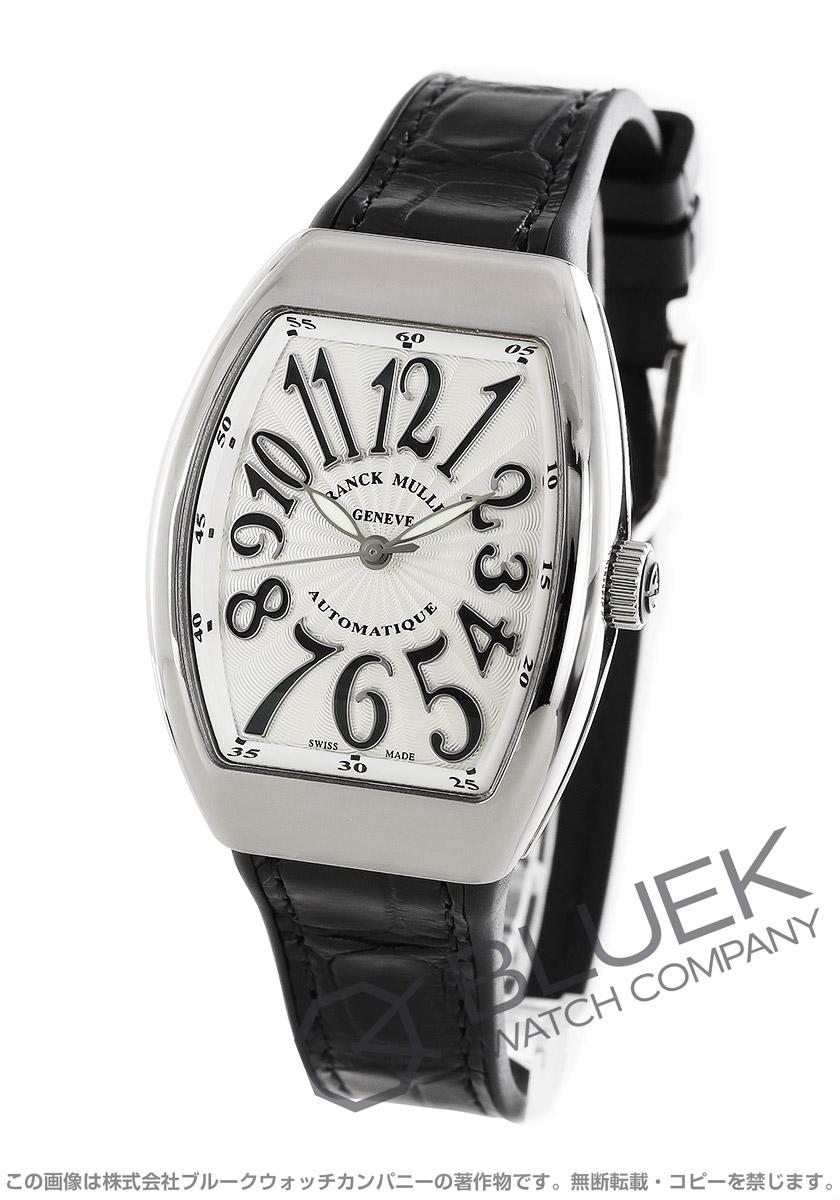 フランクミュラー ヴァンガード レディ WG金無垢 クロコレザー 腕時計 レディース FRANCK MULLER V32 SC AT FO OG NR