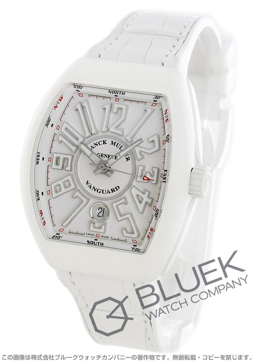 フランクミュラー ヴァンガード クロコレザー 腕時計 ユニセックス FRANCK MULLER V 41 SC DT MT BC AC BR[FMV41SCBRSSWHWHLZWH]