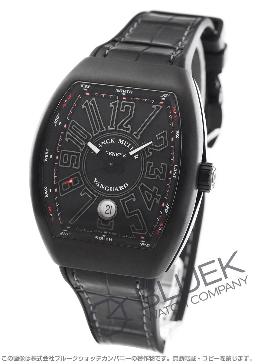 フランクミュラー ヴァンガード クロコレザー 腕時計 メンズ FRANCK MULLER V41 SC DT TT NR BR TT[FMV41SCTINRBKLZBK]