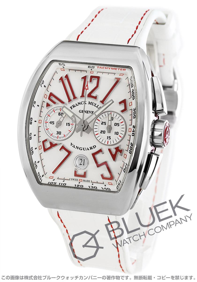 フランクミュラー ヴァンガード クロノグラフ クロコレザー 腕時計 メンズ FRANCK MULLER V 45 CC DT AC RG[FMV45CCPLSSWHRDLZWH]