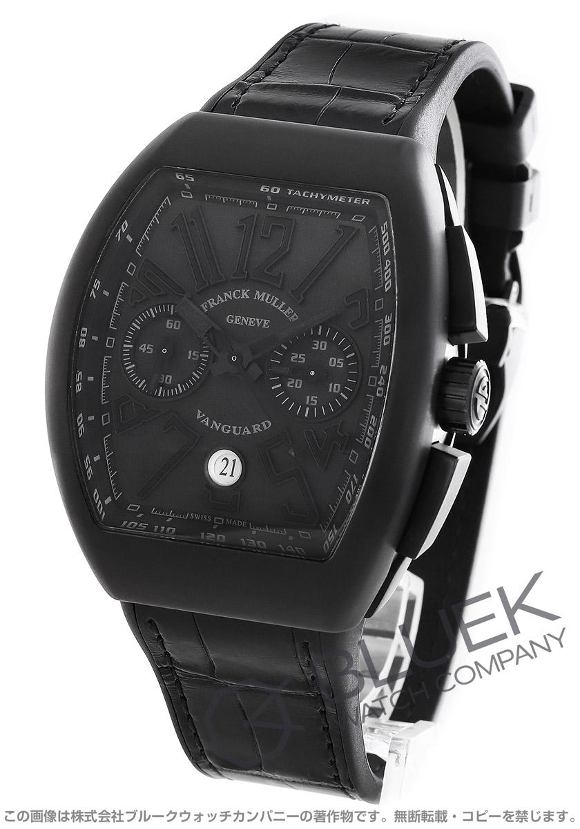 フランクミュラー ヴァンガード クロノグラフ クロコレザー 腕時計 メンズ FRANCK MULLER V45 CC DT TT NR BR NR