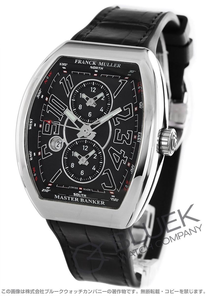 フランクミュラー ヴァンガード マスターバンカー クロコレザー 腕時計 メンズ FRANCK MULLER V45 MB SC DT AC NR